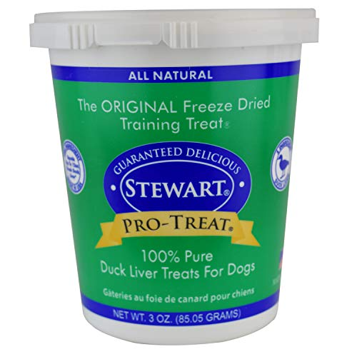 Stewart Pro-Treat Duck Liver Freeze Dried Dog Treats, 3-Ounce