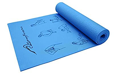 Therapy Fitness Mat – Yoga Mat Eco Friendy Non Slip 6mm or 1/4-inch thick All Purpose Exercise & Workout with Carrying Strap