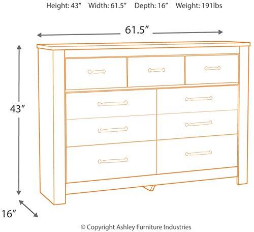 Bedroom Signature Design by Ashley Bellaby dressers, Whitewash dresser