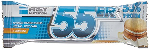 Frey 55er  Proteinriegel Cookies and Cream, 1er Pack (1 x 1000 g)