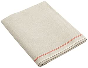 BrotformDotCom Bakers Couche - 100% Pure French Flax Linen Proofing Cloth 26 x 24 Inch, the Original Red Stripe Signature Couche