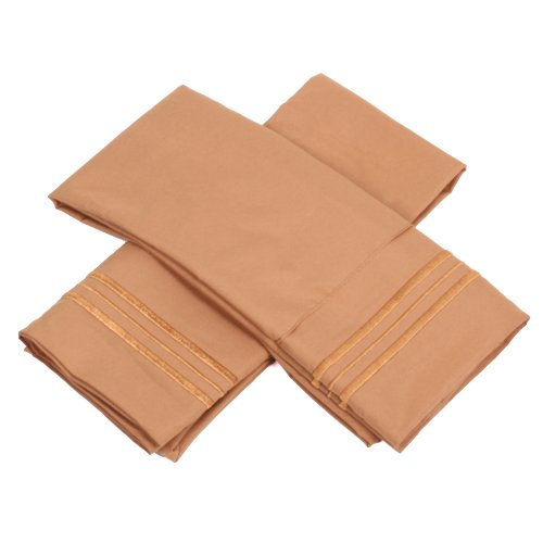 Sweet Home Collection 1500 Series Egyptian Quality Deep Pocket Pillowcase, Standard, Mocha