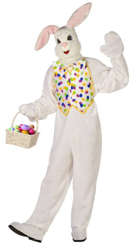 Deluxe Easter Bunny Adult Costume - White - One-Size (Adult Easter Bunny Costumes)