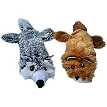 Refillable Catnip Cat Toy with Crinkle Sound and Pouch To Insert More Catnip, Set of 2