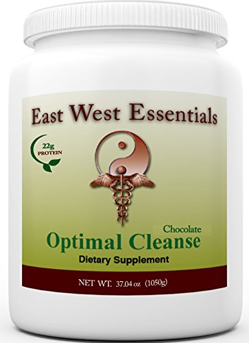 Optimal Cleanse - Chocolate by East West Essentials - Helps Eliminate Toxins from The Liver and Fat Cells - AIDS in Weight Loss - Can Be Used As A Meal Replacement ()