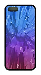 iPhone 5 5S Case Abstract Blue Purple TPU Custom iPhone 5 5S Case Cover Black