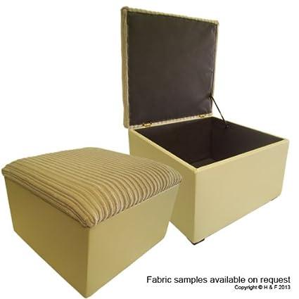 Grande beige Jumbo cable tapa/marfil piel sintética base caja de ...