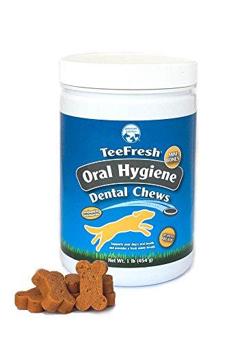 Teefresh Oral Hygiene Dental Chews- Mini Bones. Reduces Plaque & Tartar Buildup+ Minty Fresh Breath. 1 Pound Of Dental Chews- Great Value