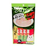 4 Pcs X 14g. (Tenderloin Chicken mix Squid) CIAO Churu Tuna Cat lick Snacks (Japan Cat Snack) Reward for cats. CAT Love it