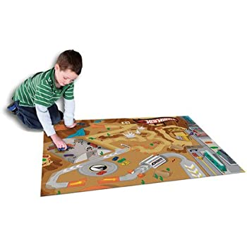 Hot Wheels Playmat Rug With Hot Wheels Vehicle For Kids Indoor And Outdoor  Play