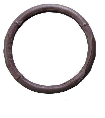 Ocamo Car Steering Wheel Cover Leather Auto Durable Non-slip Cover Dark gray; 38cm