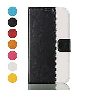 HP DF Topcel Protective PU Leather Full Body Case for Samsung Galaxy Mega 6.3 I9200 - (Assorted Colors) , Black