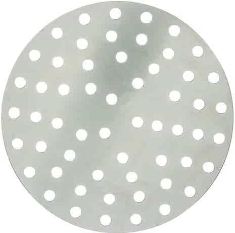 Winco APZP-12P, 12-Inch Aluminum Perforated Pizza Disk with 113 Holes, Pizza Screen