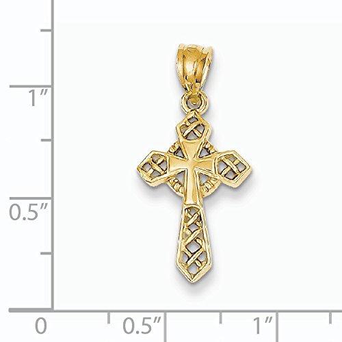 14 Carats Pendentif celtique croix-Dimensions :  19 x 12 mm-JewelryWeb