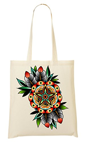 ShutUp Collection Sac Fourre tout Painted provisions Old Vintage à Flower Sac Hypnotizing school rwI1rq