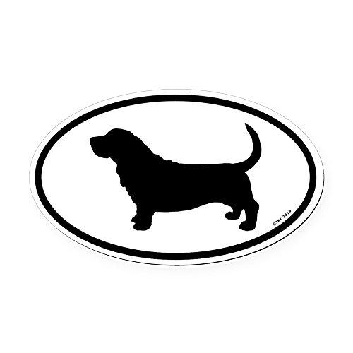 Hound Bumper Sticker (CafePress - Basset Hound Oval Car Magnet - Oval Car Magnet, Euro Oval Magnetic Bumper Sticker)