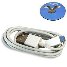 HQRP White USB to micro USB Charging Cable for Sony E-reader Digital Book PRS-T2RC / PRS-T2WC / PRS-T2HBC / PRSA-AC10 E-Book Reader + HQRP Coaster