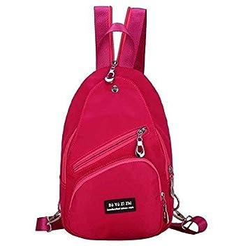 Eeayyygch Mochila de Las Mujeres Mochilas Escolares Bolso Bandolera PU de Cuero Mochilas Bolsa de Viaje Gules (Color : -, tamaño : -): Amazon.es: Hogar