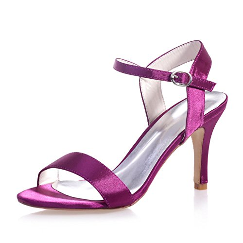 L@YC 9920-03 Damen Hochzeit Sandalen Satin Hochzeit abend Party & Peep Toe Nacht & / Plattform Patent Purple