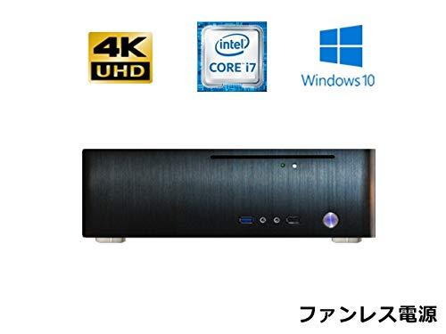 【第8世代Core搭載】【M.2 PCI接続 SSD搭載】【ファンレス電源搭載】 SlimPc TM130 Core i7 M.2 SSD 1TB メモリ8GB DVD Windows10PRO Office ブラック 静音 1年保証 パソコンショップaba B07HFCT5J5