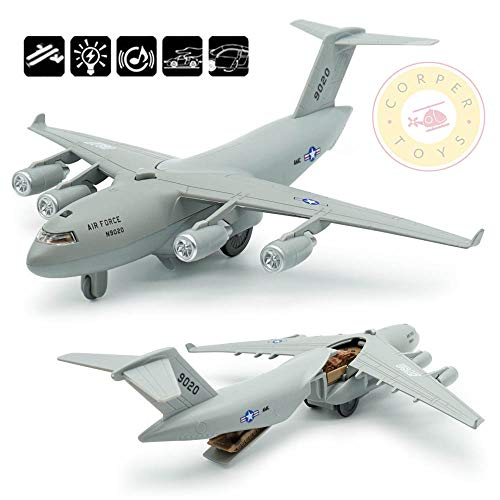 CORPER TOYS Diecast Plane Metal Pull-Back Aircraft Toys Air Plane Model Kit Gift Set for Kids Boy Birthday (Big Airplane Toys)
