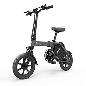 ABYYLH Bicicleta Electrica Plegable Paseo Fat E-Bike Unisex Triciclo Portátil,Gray