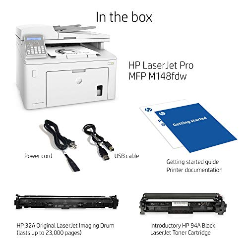 HP Laserjet Pro M148fdw All-in-One Wireless Monochrome Laser Printer with Auto Two-Sided Printing, Mobile Printing, Fax & Built-in Ethernet (4PA42A) by HP (Image #3)