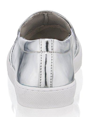 Alba Moda Slipper IM Comic-Style Silberfarben