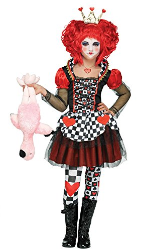 Red Queen Costume Makeup (Fun World Queen of Hearts Costume, Large)