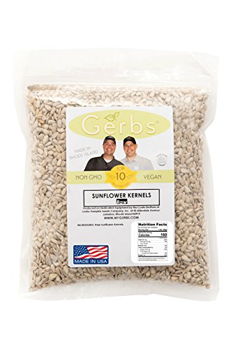 Raw Sunflower Seed Kernels by Gerbs – 2 LBS - Top 11 Food Allergen Free & NON GMO - Vegan & Kosher - Seed Country of Origin USA – Premium Grade Shelled Sunflower