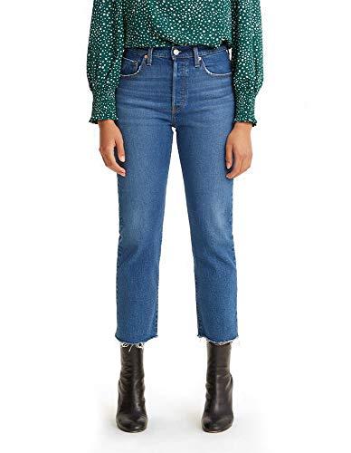 Levi's Women's 501 Crop Jeans, Charleston In The Fray - Dark Indigo, 25 (US 0)