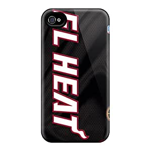 Tpu Shockproof/dirt-proof Miami Heat Cover Case For Iphone(4/4s)