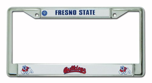 Rico Industries NCAA Fresno State Bulldogs Standard Chrome License Plate Frame