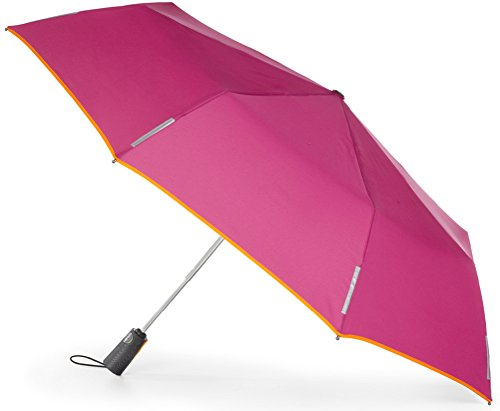 Totes Umbrella Strawberry Orange Piping