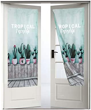 Printed Curtains Self-Adhesive Door Curtains Portable Blackout Curtains Suitable