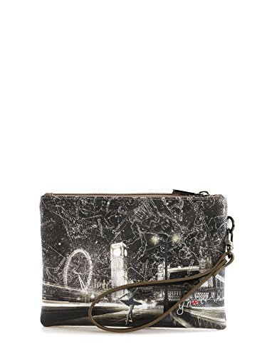 Y NOT? BORSA DONNA POCHETTE HANDLE SMALL I-342 Marrone