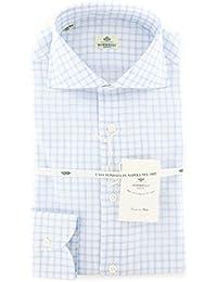 New Borrelli White Check Extra Slim Shirt