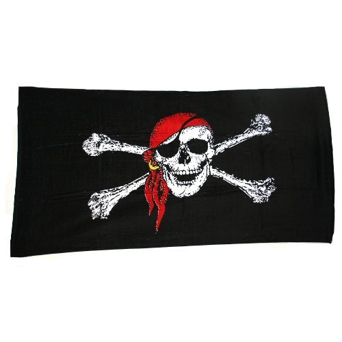 Pirate Beach Towel by Ruffin Flag