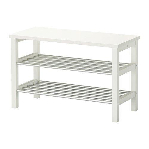 【IKEA/イケア】TJUSIG ベンチ 靴収納付き, ホワイト B00ZF3OJZO
