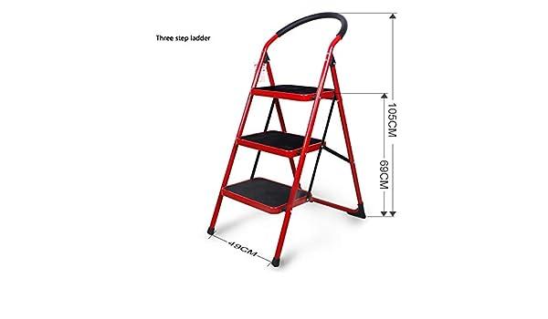 Step stool Taburete Plegado Hogar Dos de Tres Pasos Escaleras Escalera Escaleras Interiores Escaleras Mecánicas Pequeño Taburete Escabel/B/Rojo: Amazon.es: Bricolaje y herramientas