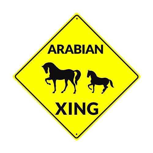 Yard Sign Arabian Xing Horse Metal Decore Arab Horse Foal Sign Novelty Gift Board