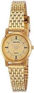 Sonata Analog Champagne Dial Women's Watch NM87018YM01/NN87018YM01
