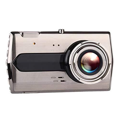 Metal 4 inch L55 Dual Lens Driving Recorder car HD Night Vision 1080P reversing ()