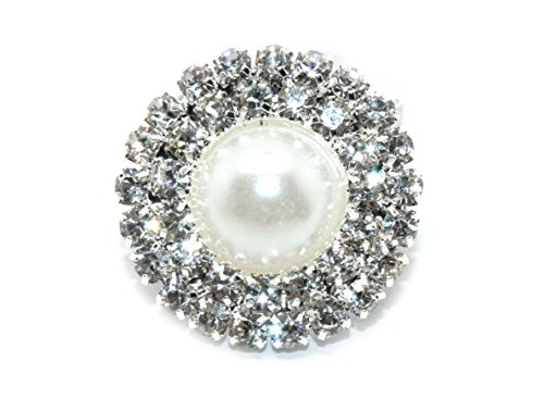 t Back Embellishments 20mm Pearl Buttons (10 Pieces) ()
