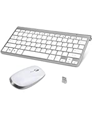 Wireless Keyboard and Mouse Combo, Whisper Mute Compact Carry Desktop Keyboard and Mouse Set for Computer PC Laptop