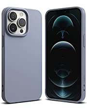 Ringke Compatible with iPhone 13 Pro Max Case, Air-S Silicone Type Shockproof Flexible Matte TPU Thin Full Protection Phone Cover for 6.7-inch (2021) (Lavender Gray)