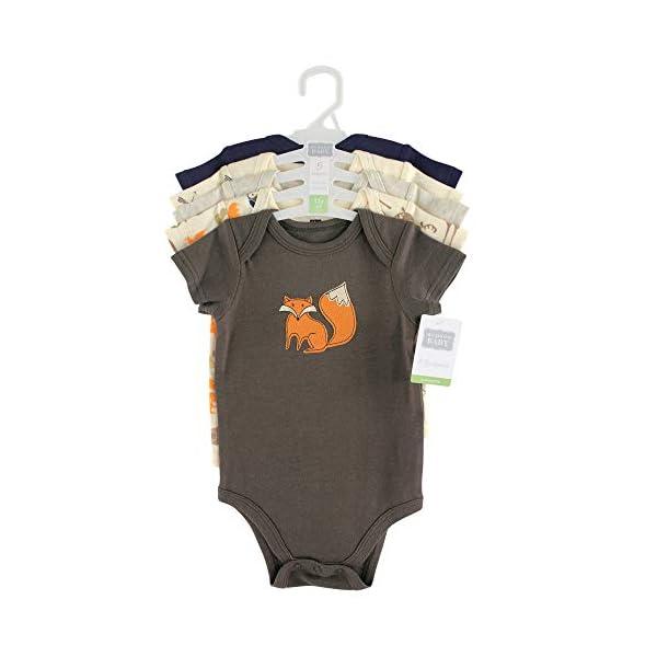 Hudson Baby Unisex Cotton Bodysuits, Forest, 0-3 Months
