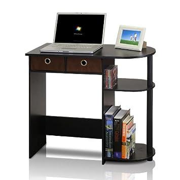 furinno 11193exbkbr go green home laptop notebook computer desktable