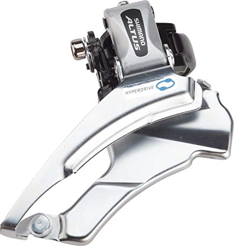 Front Shimano - SHIMANO FD-M313, Down Swing,Dual-Pull for Rear 7/8-SPD, Band Type 34.9M(W/31.8 & 28.6MM Adapter) for 42/48T, CS-Angle:66-69