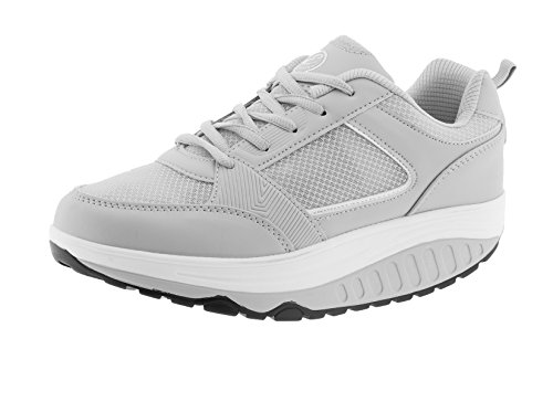 Tm Estivo Chaussures Sport Fesses Bien Grigio tre Amincissant Eglemtek mod Bianco Lames Rassoda Fitness nOFOqI